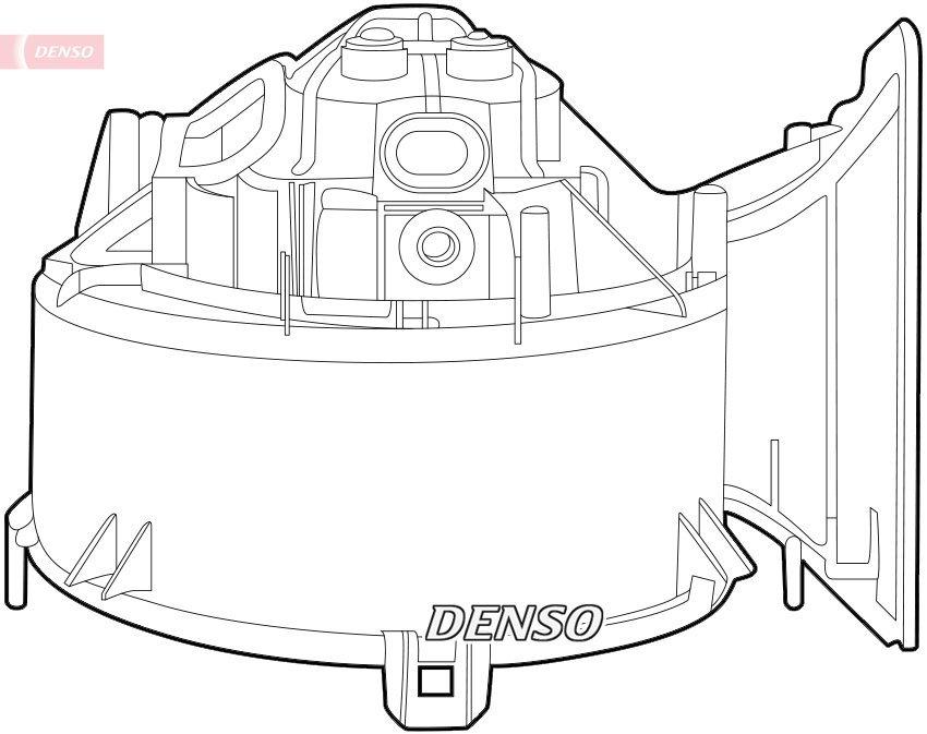 Innenraumgebläse 12 V DENSO DEA20006