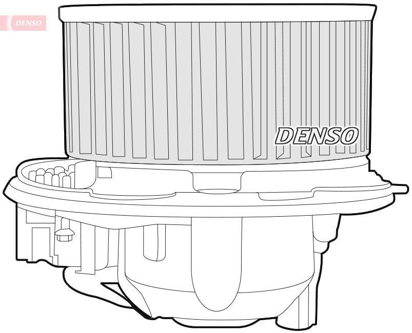 Innenraumgebläse 12 V DENSO DEA32003