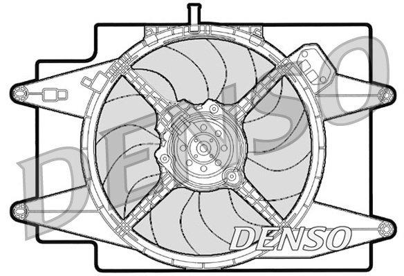 Lüfter, Motorkühlung 12 V DENSO DER01001