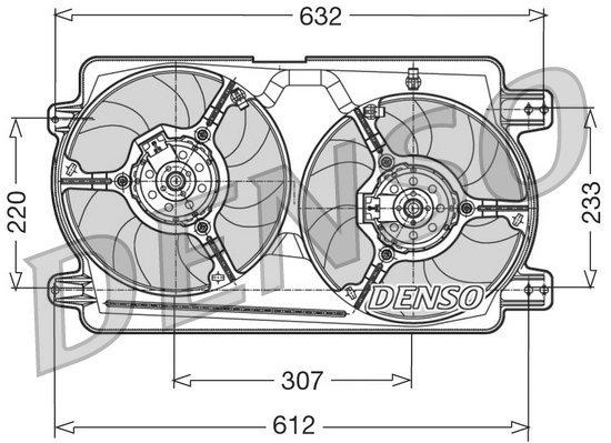 Lüfter, Motorkühlung 12 V DENSO DER01018