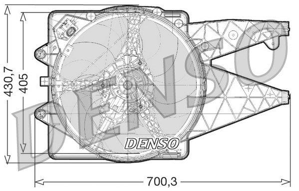 Lüfter, Motorkühlung DENSO DER01020