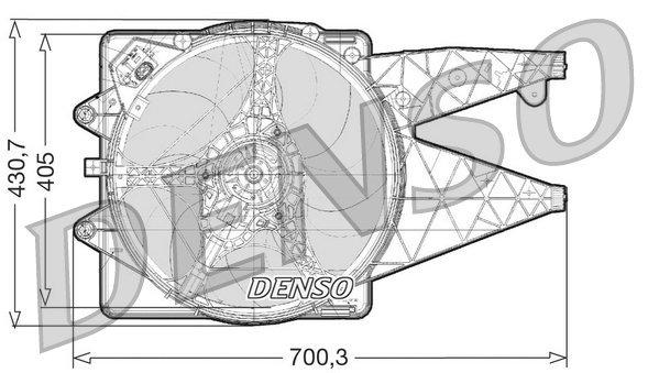 Lüfter, Motorkühlung DENSO DER01021