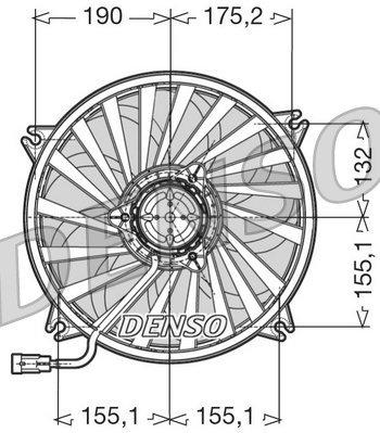 Lüfter, Motorkühlung 12 V DENSO DER07005