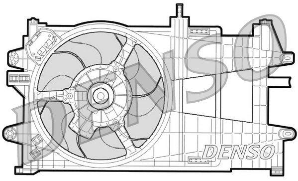 Lüfter, Motorkühlung 12 V DENSO DER09033