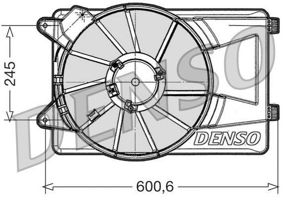 Lüfter, Motorkühlung DENSO DER09305