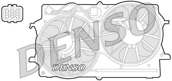 Lüfter, Motorkühlung 12 V DENSO DER10007