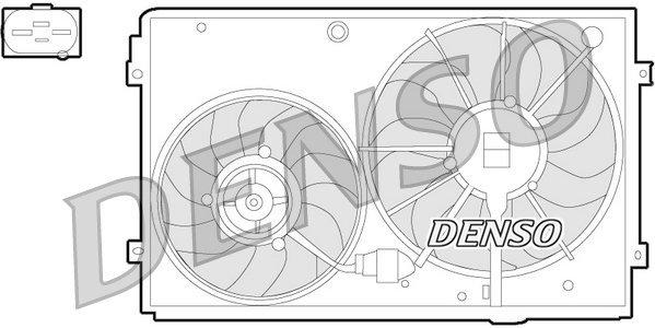 Lüfter, Motorkühlung 12 V DENSO DER32011