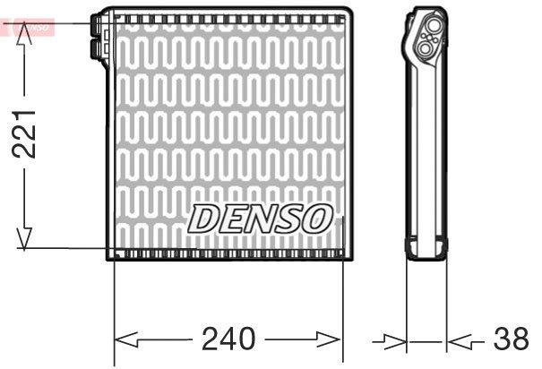 Verdampfer, Klimaanlage DENSO DEV09102