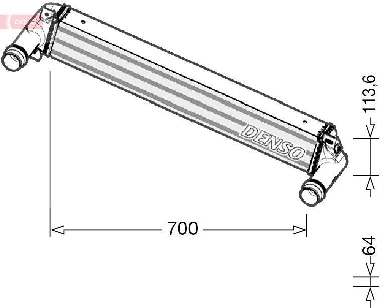Ladeluftkühler DENSO DIT06010