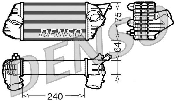 Ladeluftkühler DENSO DIT09120