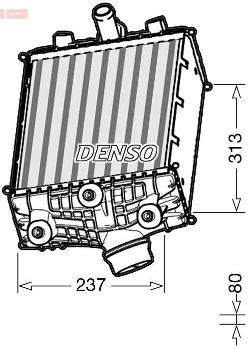 Ladeluftkühler DENSO DIT28002