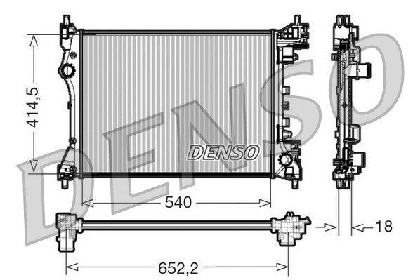 Kühler, Motorkühlung DENSO DRM01005