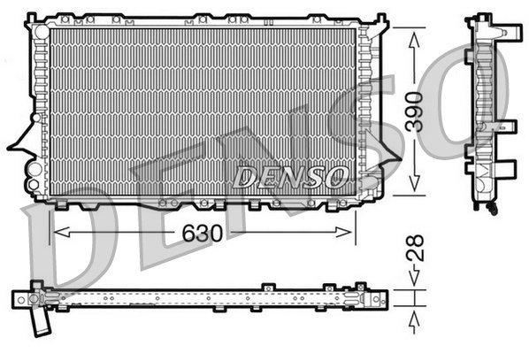 Kühler, Motorkühlung DENSO DRM02005