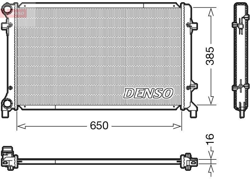 Kühler, Motorkühlung DENSO DRM02014