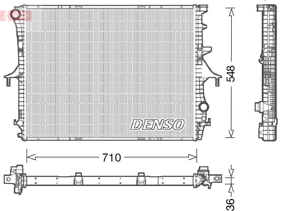 Kühler, Motorkühlung DENSO DRM02026