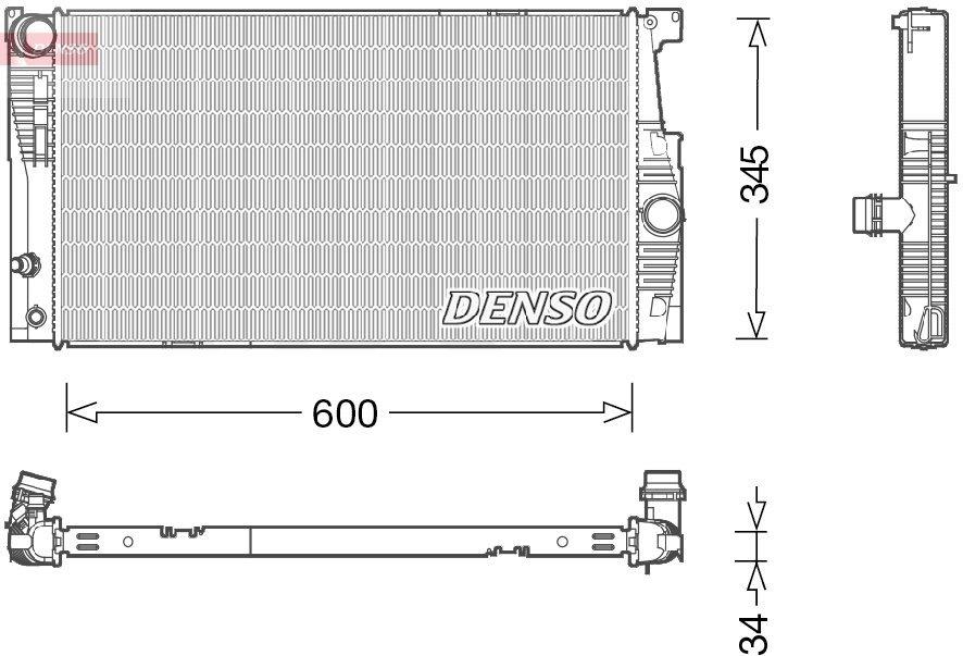 Kühler, Motorkühlung DENSO DRM05005
