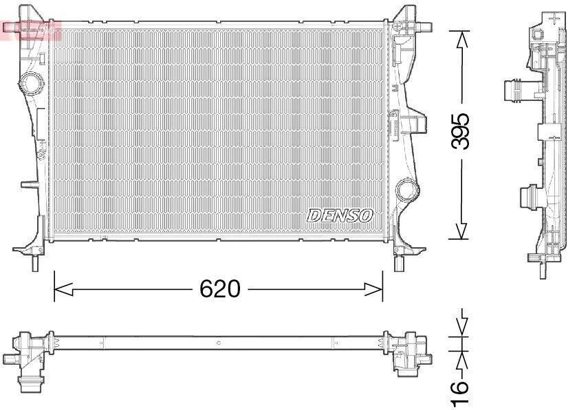Kühler, Motorkühlung DENSO DRM06038