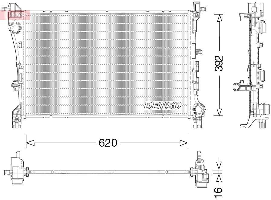 Kühler, Motorkühlung DENSO DRM09046