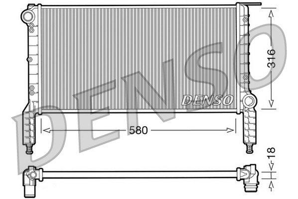 Kühler, Motorkühlung DENSO DRM09064