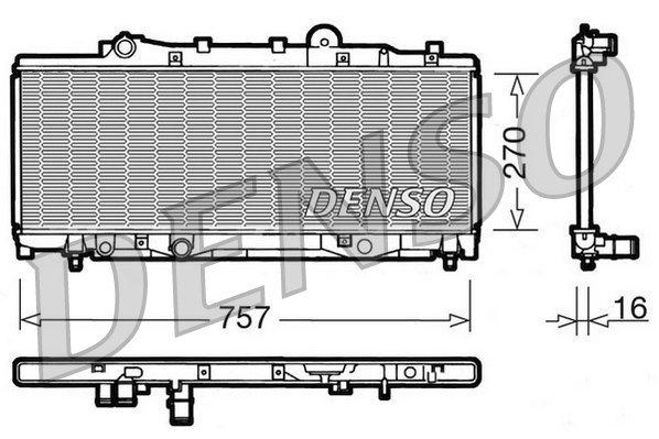Kühler, Motorkühlung DENSO DRM09090
