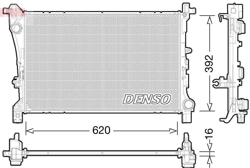 Kühler, Motorkühlung DENSO DRM09166