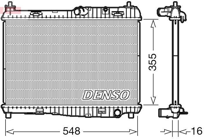 Kühler, Motorkühlung DENSO DRM10043