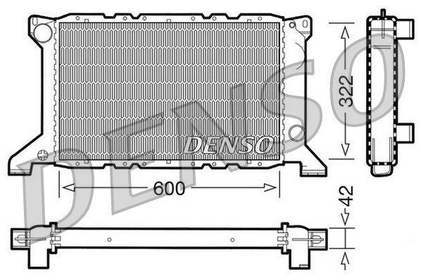 Kühler, Motorkühlung DENSO DRM10098