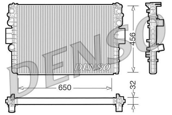 Kühler, Motorkühlung DENSO DRM12006