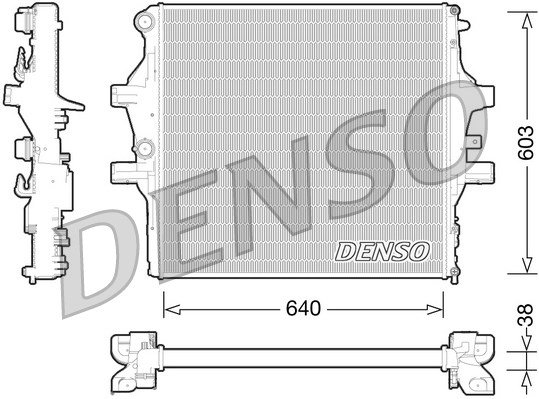 Kühler, Motorkühlung DENSO DRM12009