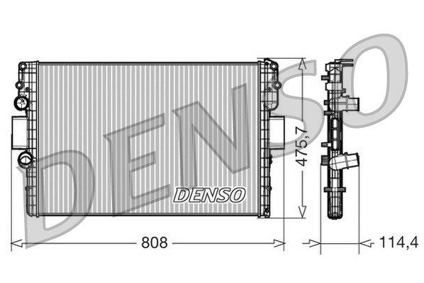 Kühler, Motorkühlung DENSO DRM12010