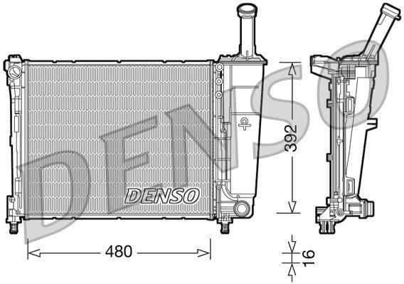 Kühler, Motorkühlung DENSO DRM13016
