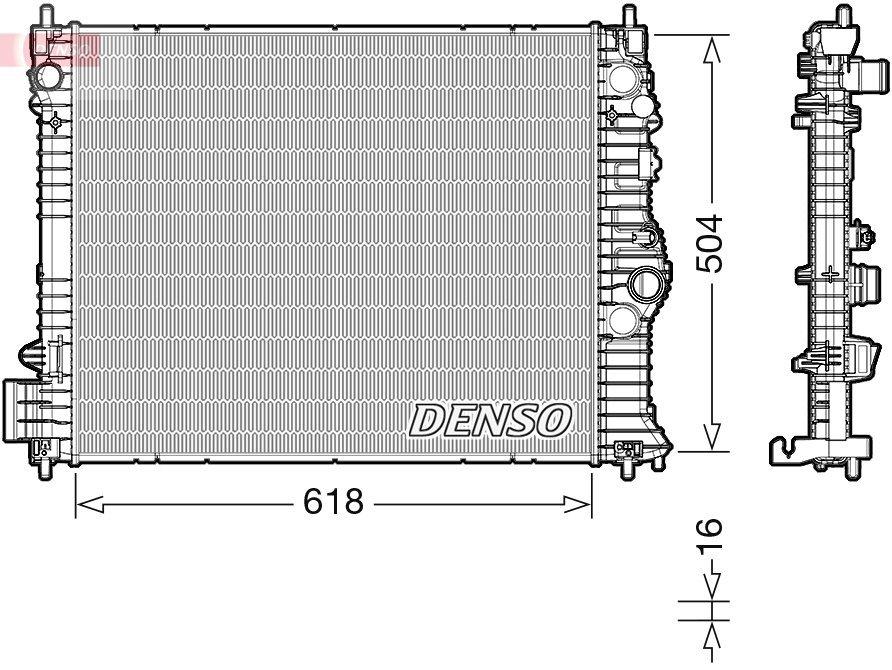 Kühler, Motorkühlung DENSO DRM15010