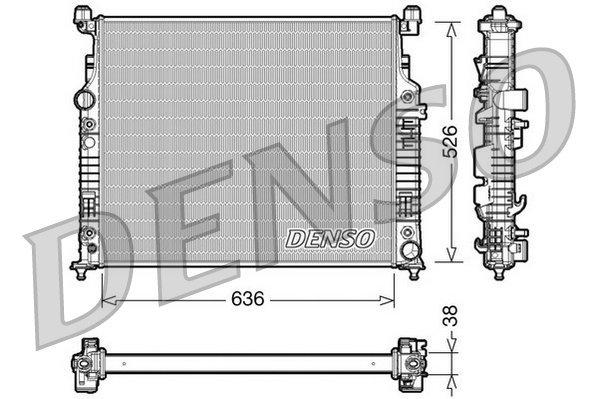 Kühler, Motorkühlung DENSO DRM17006