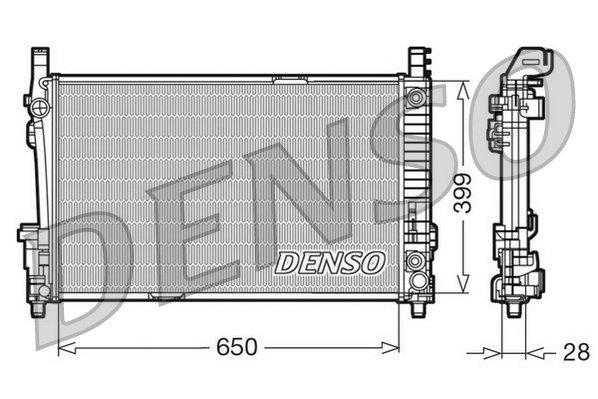 Kühler, Motorkühlung DENSO DRM17013
