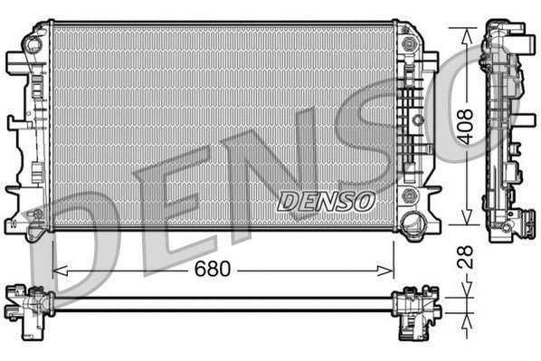 Kühler, Motorkühlung DENSO DRM17044