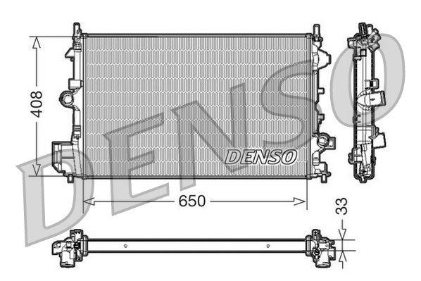 Kühler, Motorkühlung DENSO DRM20088