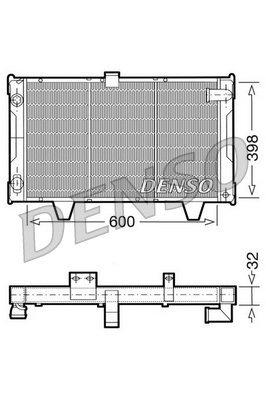 Kühler, Motorkühlung DENSO DRM21061