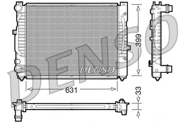 Kühler, Motorkühlung DENSO DRM32029