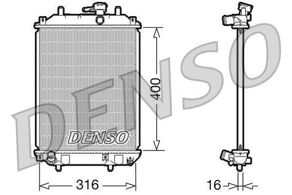 Kühler, Motorkühlung DENSO DRM35001