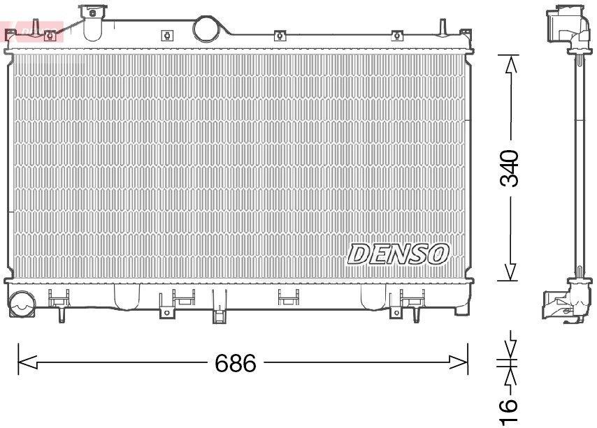 Kühler, Motorkühlung DENSO DRM36021