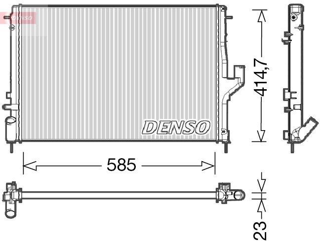 Kühler, Motorkühlung DENSO DRM37001