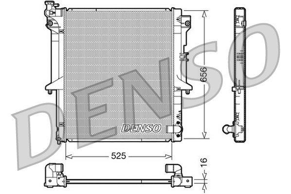 Kühler, Motorkühlung DENSO DRM45017