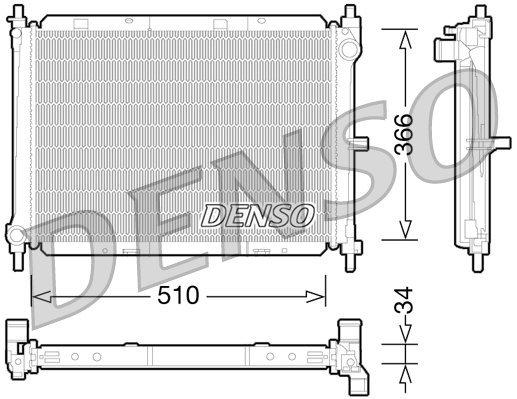 Kühler, Motorkühlung DENSO DRM46038