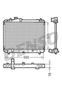 Kühler, Motorkühlung DENSO DRM47008