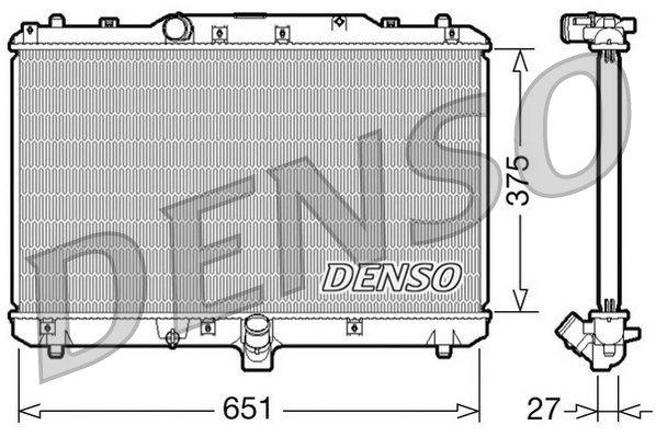 Kühler, Motorkühlung DENSO DRM47022