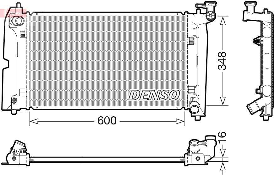 Kühler, Motorkühlung DENSO DRM50110