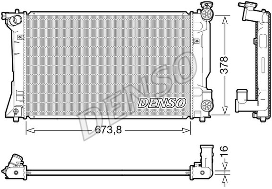 Kühler, Motorkühlung DENSO DRM50118