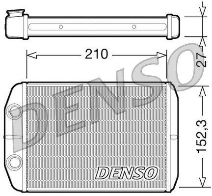 Wärmetauscher, Innenraumheizung DENSO DRR09073