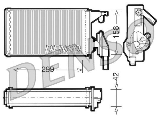 Wärmetauscher, Innenraumheizung DENSO DRR12002