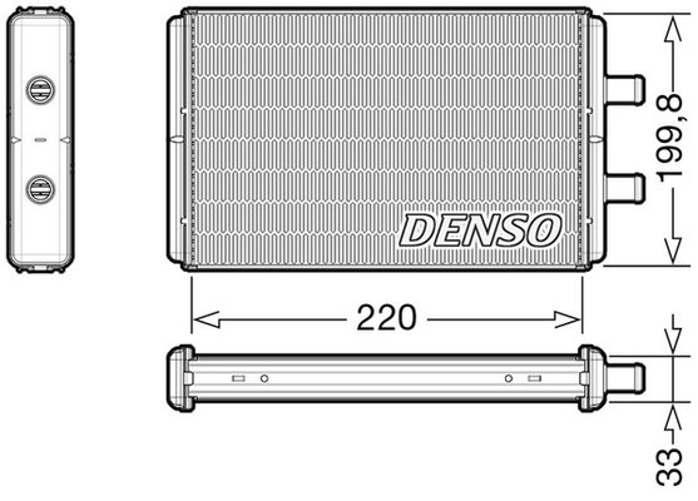 Wärmetauscher, Innenraumheizung DENSO DRR12016